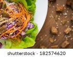 vegetarian   vegan salad with... | Shutterstock . vector #182574620