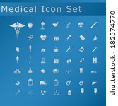 medical icon set | Shutterstock .eps vector #182574770