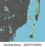 miami vector map with dark... | Shutterstock .eps vector #1825753640