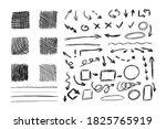 vector set of sketched design... | Shutterstock .eps vector #1825765919