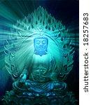 buddha religious illustration... | Shutterstock . vector #18257683