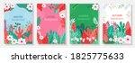 vector set four seasons  winter ... | Shutterstock .eps vector #1825775633