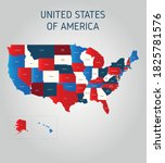 presidential election 2020 usa... | Shutterstock .eps vector #1825781576
