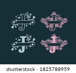 alphabet split monograms. baby... | Shutterstock .eps vector #1825788959
