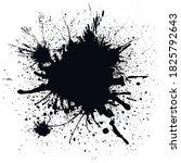 vector paint ink splat for tex... | Shutterstock .eps vector #1825792643