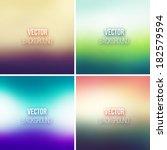 blurred vector backgrounds...   Shutterstock .eps vector #182579594