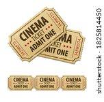 old cinema tickets for movie...   Shutterstock . vector #1825814450