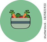 bowl of vegetables icon cooking | Shutterstock . vector #1825821923