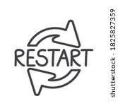 restart word concept  vector...