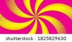 Spiral Pop Art Comic Background....