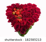 bouquet of roses with heart | Shutterstock . vector #182585213