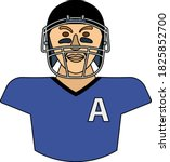 american football player icon....