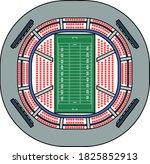 american football stadium bird...