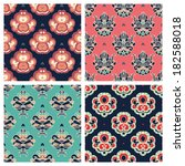 vector set. abstract seamless... | Shutterstock .eps vector #182588018