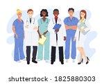 professional doctors and nurses ...   Shutterstock .eps vector #1825880303