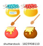Cute Pots And Jars With Honey....