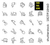 yard tools thin line icons  ... | Shutterstock .eps vector #1825918460