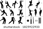 large collection of silhouettes ... | Shutterstock .eps vector #1825922933