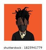 caricature portrait of blank...   Shutterstock .eps vector #1825941779