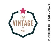 simple out line retro vintage... | Shutterstock .eps vector #1825960196