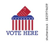 vote here. polling place sign.... | Shutterstock .eps vector #1825974659