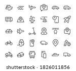 set of public transport related ... | Shutterstock .eps vector #1826011856