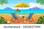 summer tropical beach with sun ... | Shutterstock .eps vector #1826027390