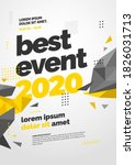 layout design with polygonal... | Shutterstock .eps vector #1826031713