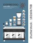 coffee machine   accessories... | Shutterstock .eps vector #182606708