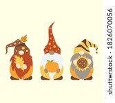 cute autumn gnomes vector... | Shutterstock .eps vector #1826070056