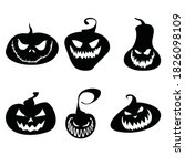 Halloween Pumpkins With Various ...