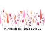 watercolor floral seamless... | Shutterstock . vector #1826134823