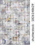 Gray Pattern Carpet Checkered...