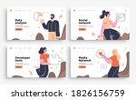 set of presentation slide... | Shutterstock .eps vector #1826156759