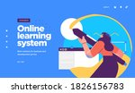 online education modern flat... | Shutterstock .eps vector #1826156783