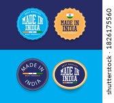 made in india badge vector... | Shutterstock .eps vector #1826175560