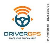 driver gps vector logo template.... | Shutterstock .eps vector #1826185796