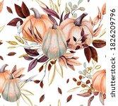 autumn seamless pattern of...   Shutterstock . vector #1826209796