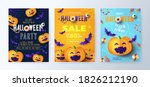 halloween party invitations ... | Shutterstock .eps vector #1826212190