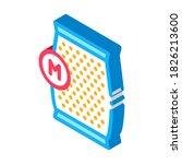 mushroom spawn bag icon vector. ...   Shutterstock .eps vector #1826213600