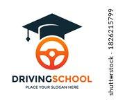 driving school vector logo... | Shutterstock .eps vector #1826215799