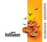 happy halloween with pumpkin... | Shutterstock .eps vector #1826223920