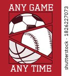 any game any time  all sports ... | Shutterstock .eps vector #1826227073