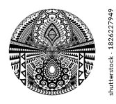 maori circle tattoo shape ... | Shutterstock .eps vector #1826227949