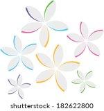 cutout paper flowers vector... | Shutterstock .eps vector #182622800