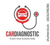 car diagnostic vector logo... | Shutterstock .eps vector #1826248286