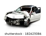 White Car In An Accident...