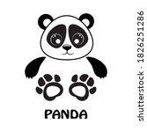 Vector Illustration Panda Bear...