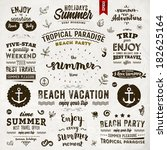 retro elements for summer... | Shutterstock .eps vector #182625164