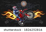 the man on the motorbike  | Shutterstock . vector #1826252816